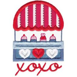 XOXO Cupcake Stand Applique