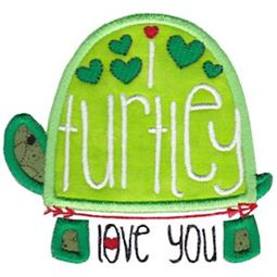I Turtley Love You Applique