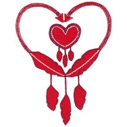 Native American Feather Heart