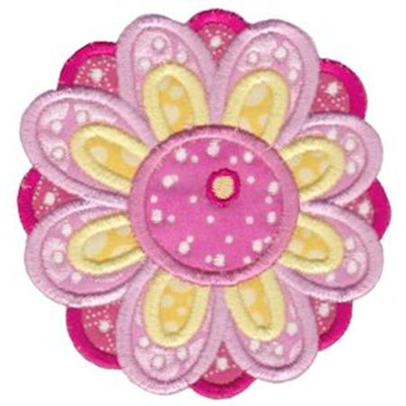 Cute Flower Applique 1