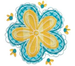 Cute Flower Raggedy Applique 10