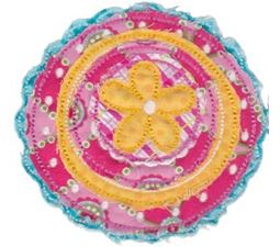 Cute Flower Raggedy Applique 2