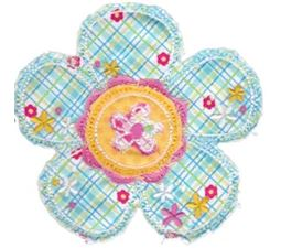 Cute Flower Raggedy Applique 3