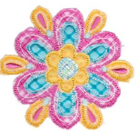 Cute Flower Raggedy Applique 5