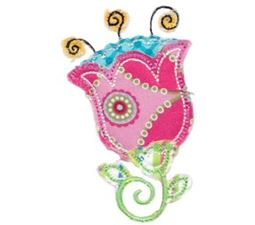 Cute Flower Raggedy Applique 6