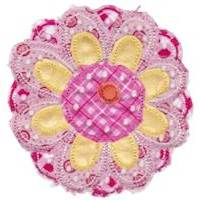 Cute Flower Raggedy Applique