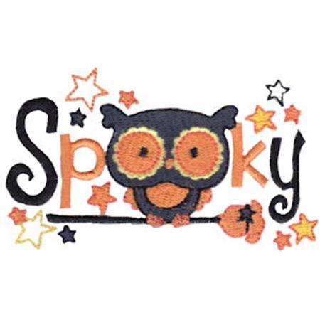 Owl Spooky Word Art