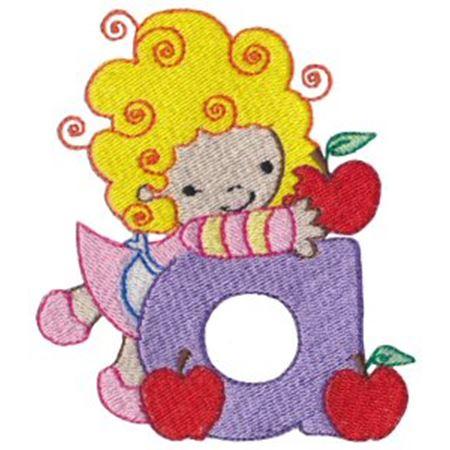 Cuties Alphabet A