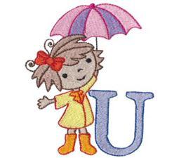 Cuties Alphabet U