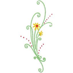 Daisy Swirls 1