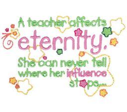 A Teacher Affects Eternity Girl