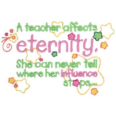 A Teacher Affects Eternity Girl