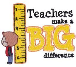 Teachers Make A Big Difference Boy