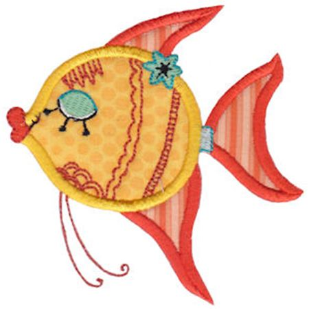 Decorative Sea Creatures Applique 1