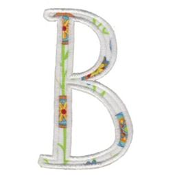 Delicious Applique Alphabet b