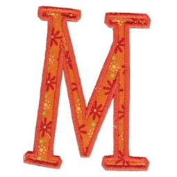 Delicious Applique Alphabet m