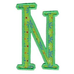 Delicious Applique Alphabet n