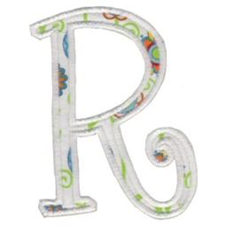 Delicious Applique Alphabet r