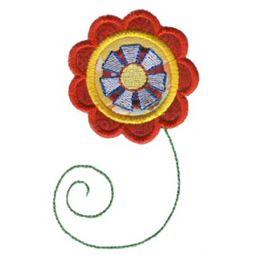 Doodle Flowers Applique 2