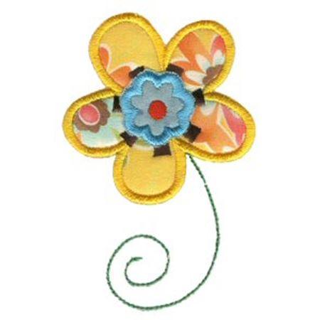 Doodle Flowers Applique 4