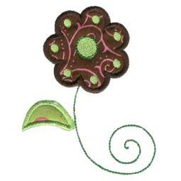 Doodle Flowers Applique 8