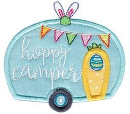 Hoppy Camper Applique