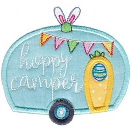 Hoppy Camper Applique