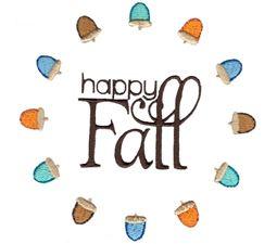 Happy Fall In Acorn Border