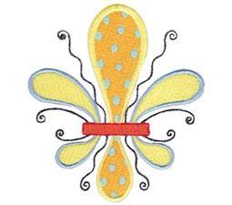 Fanciful Fleur De Lis 6