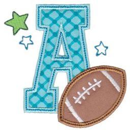 Football Alphabet Applique 1