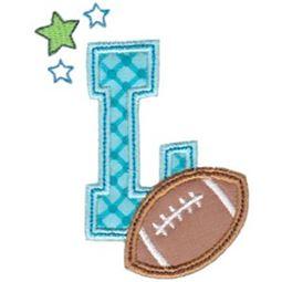 Football Alphabet Applique 12