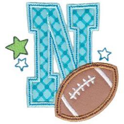 Football Alphabet Applique 14