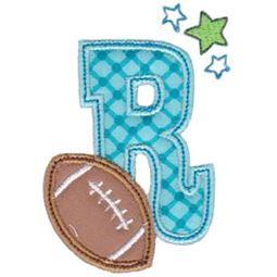 Football Alphabet Applique 18