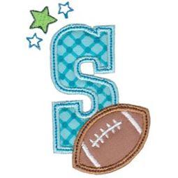 Football Alphabet Applique 19