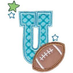 Football Alphabet Applique 21