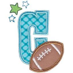 Football Alphabet Applique 3