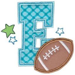 Football Alphabet Applique 5