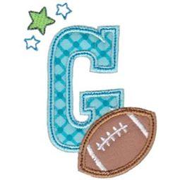 Football Alphabet Applique 7