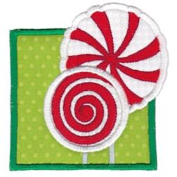 Framed Peppermint Candy Applique
