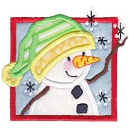 Framed Snowman Applique