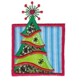 Framed Christmas Tree Applique