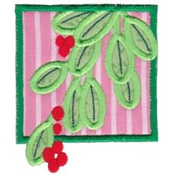 Framed Mistletoe Applique