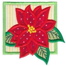 Framed Poinsettia Applique