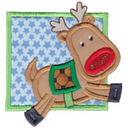 Framed Rudolph Applique