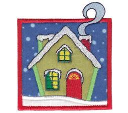 Winter House Applique