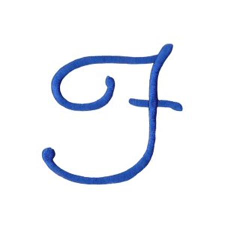 Freehand Alphabet Capital F