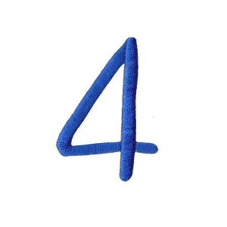 Freehand Alphabet Number 4