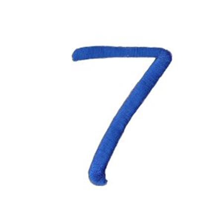 Freehand Alphabet Number 7