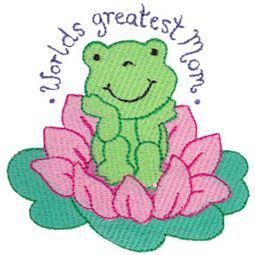 Worlds Greatest Mom Frog