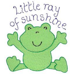 Little Ray Of Sunshine Frog